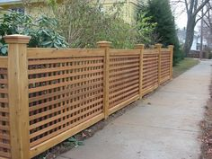 7 Courageous Tips AND Tricks: Gray Brick Fence fence planters deck railings.Modern Fence Front Yard fence lighting home. Lattice Fence Panels, Lattice Garden, Wooden Fence Panels, Wood Privacy Fence, Trellis Fence, Privacy Fence Designs, Brick Fence, Front Yard Fence, Farm Fence