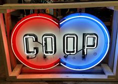 Co-Op Gasoline / Motor Oil Neon Sign