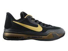 Nike Kobe 10 EM XDR Chaussures Baskets2016 Pas Cher Pour Homme Noir - Jaune - Gris 705317-ID1