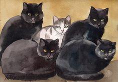 The Bodyguards Painting by Yuliya Podlinnova
