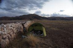 De acampada en Perú