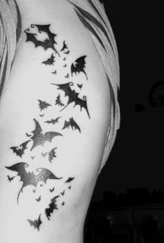 Tribal Bat Tattoo Designs  Style Of. I dont want it. But I dig it.