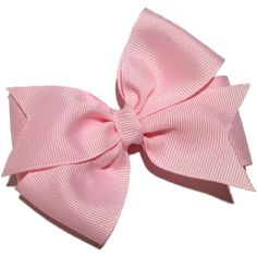 4 inch light pink hair bow - light pink bow ($4.50) ❤ liked on Polyvore