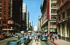 Downtown Los Angeles, 1950s.