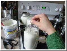 A great homemade yogurt tutorial at Kitchen Stewardship ~ Made w/ Whole Raw Milk