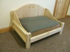 Wood Dog Beds | ... Sectional Buildings - Medium Raised Dog Bed Frame - MEDIUM-DOG-FRAME