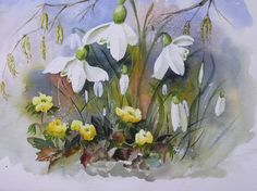 winter+aconite+art | Home > Gallery > Spring > SPRING SNOWDROPS AND WINTER ACONITE