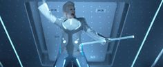 """""""Boys!  Change the scheme, alter the mood.  Electrify the boys and girls if you'd be so kind."""" - Michael Sheen as Castor in Disney's Tron: Legacy Underworld Michael, Light Cycle, Tim Curry, Tron Legacy, Safe Search, Michael Sheen, Ziggy Stardust, David Bowie, Good Movies"""
