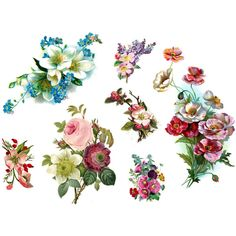 vintage flowers - 7 temporary tattoos - stocking stuffer ($18) ❤ liked on Polyvore featuring accessories, body art, tattoos and fillers