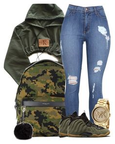 """""""School"""" by kaygwuapo ❤ liked on Polyvore featuring Michael Kors, NIKE and Nine West"""