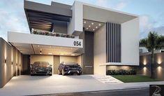 urvelo /MG Autor do projet Architecture Design, Modern Architecture House, Facade Design, Exterior Design, Duplex House Design, House Front Design, Home Building Design, Building A House, Modern Villa Design