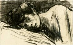 Facing death: Eugeen van Mieghem (1875-1930) draws his dying muse -Augustine ca. 1905.