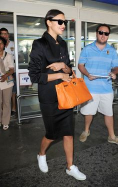 Before you go on any spring or summer vacations, upgrade your airport style. Click to see how some of today's biggest supermodels - like Irina Shayk - dress when they fly.