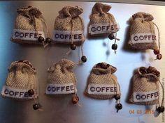 """Магниты ручной работы. Ярмарка Мастеров - ручная работа. Купить Магнит """" КОФЕ """". Handmade. Коричневый, кофе, канва"""