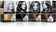 John Frieda Precision Foam Colour Salon Blends Collection - uses 3 tones in 1 bottle, not the usual 1 or 2 so the results are more vibrant and closer to salon blend.