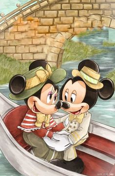 Mickey And Minnie Tattoos, Mickey And Minnie Kissing, Mickey Mouse And Friends, Disney Tattoos, Mickey Minnie Mouse, Disney Images, Disney Pictures, Cute Pictures, Little Boy Drawing