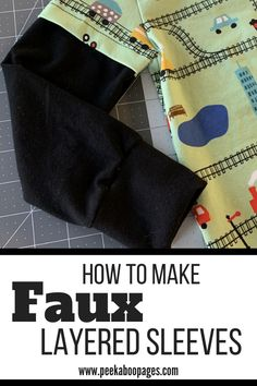 How to Create Faux Layered Sleeves - Peek-a-Boo Pages