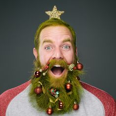 This Christmas, bearded men can show off their well-groomed facial hair in festive style. Shop owner Stephanie Jarstad wanted the spirit of 'Movember' to carry through to December and has done a photo-project to support Christmas Mood, Christmas Countdown, Ugly Christmas Sweater, Christmas And New Year, Christmas Trees, Christmas Thoughts, Christmas Hair, Christmas 2014, Ugly Sweater