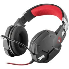 Trust GXT 322 Carus Gaming Headset - black - Mesh padded gaming headset, with flexible microphone and powerful bass, designed for PC and consoles Wireless Headset, Gaming Headset, Ps4, Nintendo Switch, Trust Games, Audio, Best Headphones, Headphone With Mic, Gaming Accessories