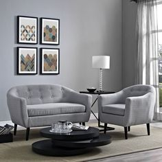 Wit 2-piece Upholstered Living Room Set - Free Shipping Today - Overstock.com - 17404501 - Mobile