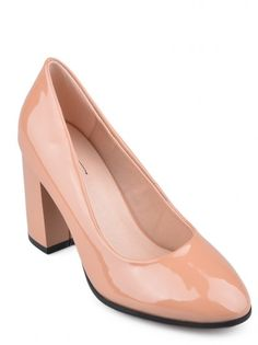 Дамски обувки на ток TENDENZ - телесен