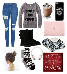 """❄Let it Snow❄"" by abbie0987 ❤ liked on Polyvore featuring Topshop, UGG, Incase, Casetify, Beats by Dr. Dre, Free Press and Oliver Gal Artist Co."