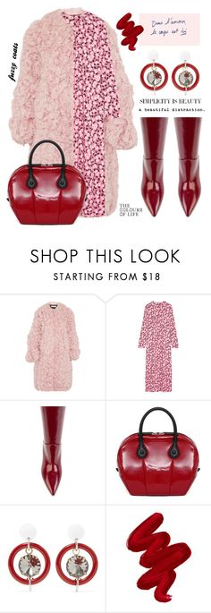 """""""Simplicity is beautiful"""" by jan31 ❤ liked on Polyvore featuring Marni, Obsessive Compulsive Cosmetics, polyvoreeditorial and fuzzycoats"""