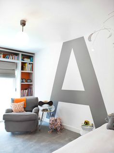 "carl berg home  ~ love the ""a"" on the wall! {ca home + design mag}"