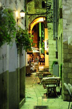 Street of Split in Croatia