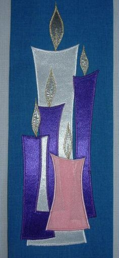 More Church Banners | playfulstitching Wouldn't it be beautiful if people could write something on the strips of fabric before it is made into the quilted banner? Description from pinterest.com. I searched for this on bing.com/images