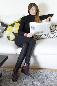 Celebrity journalist Anthi Salagoudi knows how to rock in this pair of Geox shoes! Brogues, Floor Chair, Celebrity, Celebs, Flooring, Rock, Furniture, Shoes, Home Decor
