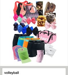 Adorable volleyball outfits put together with polyvore. THIS IS THE CUTEST VOLLEYBALL CLOTHES I'VE EVER SEEN!