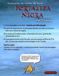 Saleta de Leitura: Participe do Concurso Cultural de Fanfic do livro Fortaleza Negra http://saletadeleitura.blogspot.com.br/2014/06/participe-do-concurso-cultural-de.html