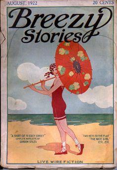 Breezy stories, aug. 1922 !!!!@@@¡¡¡¡....http://www.pinterest.com/laniehelena/by-the-beautiful-sea/