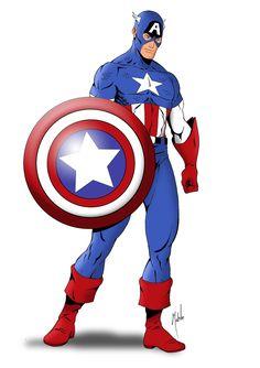 Captain America by Mike Mahle Captain America (c) Marvel Comics & Disney Captain America Tattoo, Captain America Drawing, Captain America Star, Captin America, Captain America Coloring Pages, Marvel Heroes, Marvel Characters, Marvel Comics, Cartoon Pics