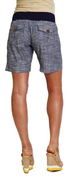 Everly Grey Miren Belly Panel Maternity Shorts | Maternity Clothes  Available at Due Maternity.com www.duematernity.com