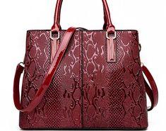 7948ecc5ea89 Hot Offer New Fashion PU Leather Women Bag Ladies Luxury Snake Shoulder  Bags Designer Handbags High Quality 2018 Spring Ladies Tote Bag