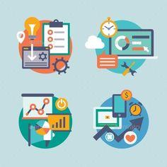 Set  Flat Design for Internet Marketing, Promotion (JPG Image, Vector EPS, CS, app, business, chart, communication, computer, concept, design, flat, icon, icons, idea, illustration, internet, management, marketing, media, mobile, modern, network, object, presentation, seo, service, set, sign, social, symbol, technology, vector, web)