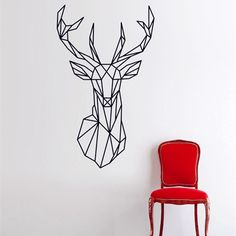 Aliexpress.com : Buy Geometric Animals Deer Vinyl Wall Decals Modern Style Creative Design Home Decor For Wall Decoration 3D Sticker Size 51 x 86 cm from Reliable home decor upholstery fabric suppliers on King & Queen Home Decor