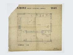 Plans de la cuisine et de l'office où l'architecture intérieure met en évidence la circulation et les rangements. Poissy, Villa Savoye, Charles-Edouard Jeanneret dit Le Corbusier (1887-1965).