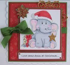 Image result for christmas elephant digi stamps