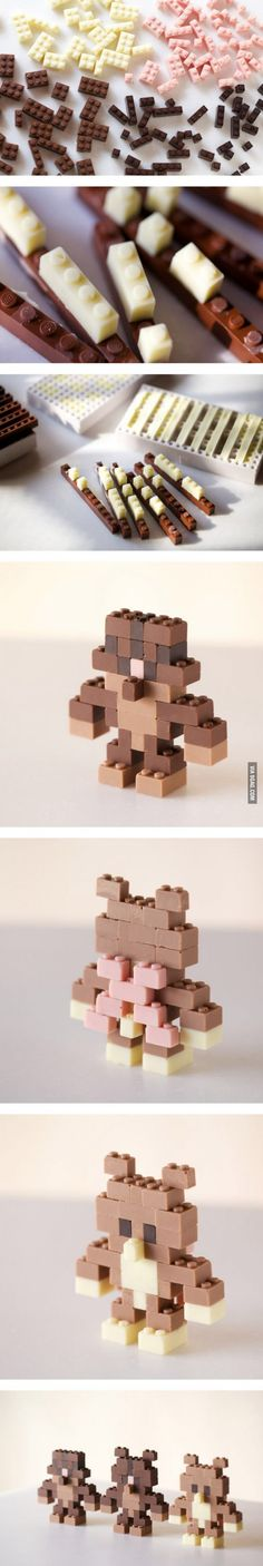 Illustrator and designer Akihiro Mizuuchi designed a modular system for creating edible chocolate.