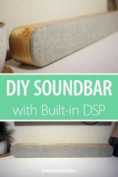 DIY Soundbar With Built-in DSP Build a modern looking soundbar from thick kerf-bent plywood with built-in programmable digital signal processor (DSP). Electronics Projects, Diy Electronics, Woodworking Workshop, Woodworking Tips, Woodworking Furniture, Diy Soundbar, Diy Speakers, Bluetooth Speakers, Stereo Speakers