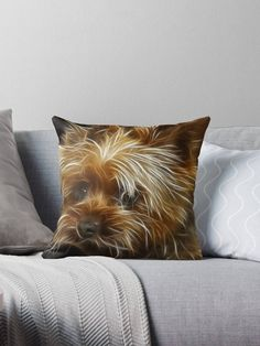 Excited to share the latest addition to my #etsy shop: Yorkshire Terrier Dog Art, Best Pillow Gifts, 18x18 Throw Pillow with Dog, Dog Lover Gift, Dog Mom Gift, Pet Gifts For Her http://etsy.me/2DDXegt #housewares #pillow #brown #pillowcover #no #dog