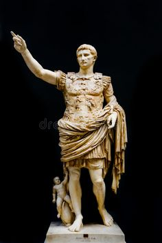 Photo about Roman statue of emperor Caesar Augustus. Image of sculpture, empire, caesar - 8042612 Carthage, Sculpture Romaine, Rome Art, Emperor Augustus, Greek Statues, Roman Republic, Roman Sculpture, Tatoo, Romans