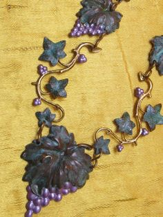 Vintage grapevine necklace womens necklaces by MyElegantThings