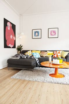 lovely living with colour and vintage furniture
