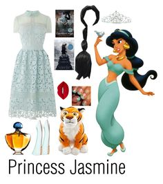 A fashion look from September 2016 featuring long shirt dress, ballet shoes and rhinestone hair accessories. Browse and shop related looks. Princess Jasmine, Disney Princess, Lime Crime, Ralph Lauren, Polyvore, Shopping, Collection, Design, Women
