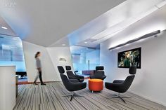 At The Porter Novelli Office In Atlanta, Georgia, TVS Design Furnished The  The Reception Area With PearsonLloyd Bob Lounge Chairs.