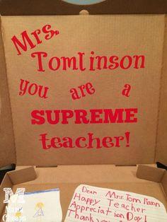 pizza teacher gift box